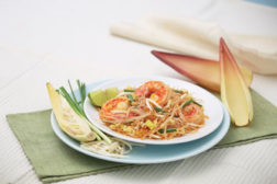 Asian noodles, shrimp