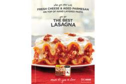 lasagna, frozen meal
