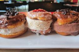 donuts ice cream sandiwch