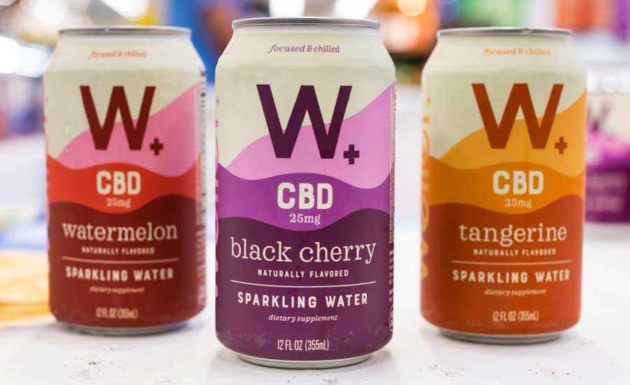 W+ CBD Sparkling Water Flavors