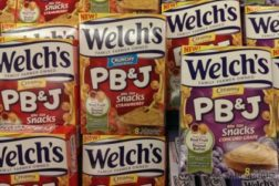Welch's PB&J snacks feat