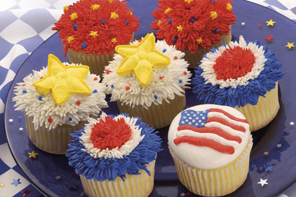 Red White Blue Cupcakes Feature
