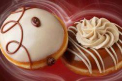 Krispy Kreme coffee doughnuts feat