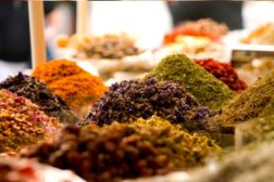 spices, piles of ingredients