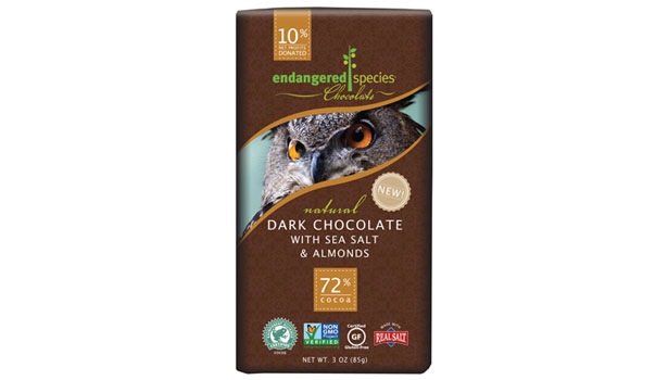 Endangered Species Chocoalte bar, 20th anniversary seals
