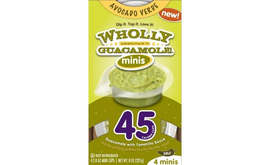 wholly guacamole introduces 45calorie mini cups 201507