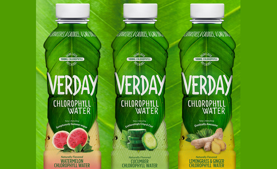 Verday chlorophyll water zero calorie green drink 2016 for Cocktail 0 calorie