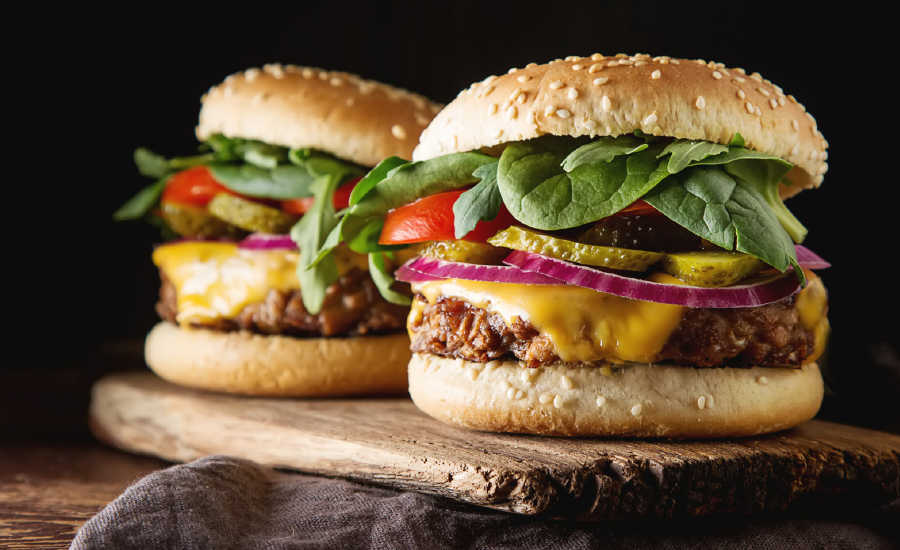 Clextral Plant-Based Meat Substitute Burgers