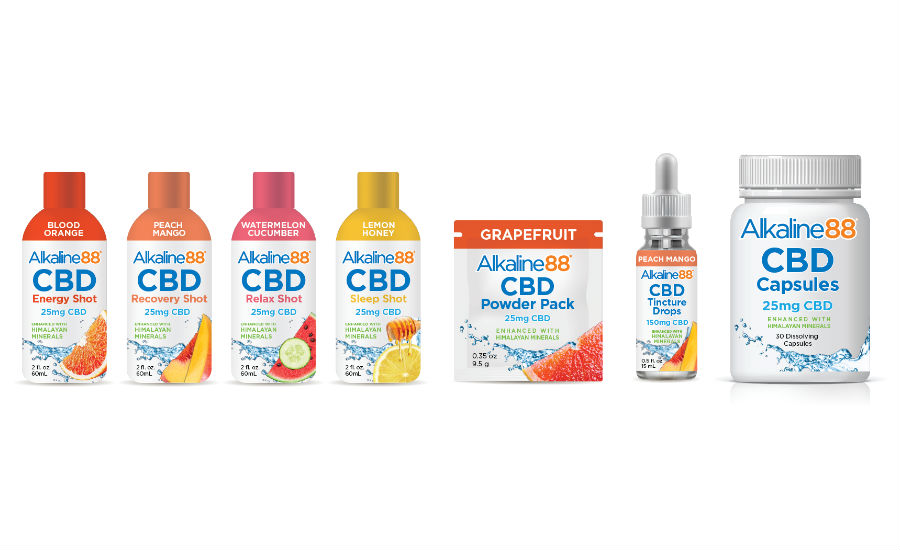 Alkaline Water CBD products