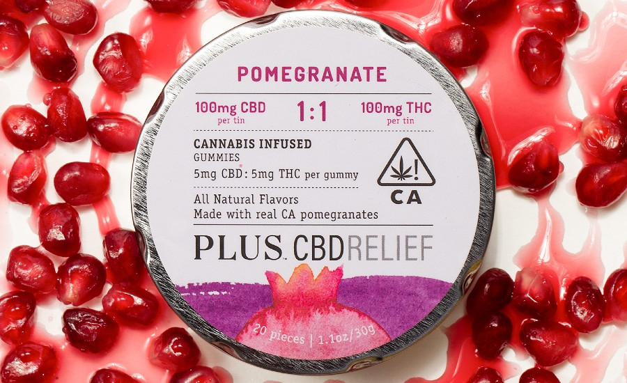 PLUS Products CBDRelief Pomegranate