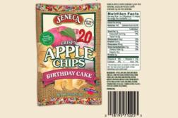 birthday cake apple chips, snacks