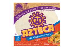 Azteca flour tortilla, clean label