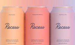 Recess Sparkling Water Infused with Hemp