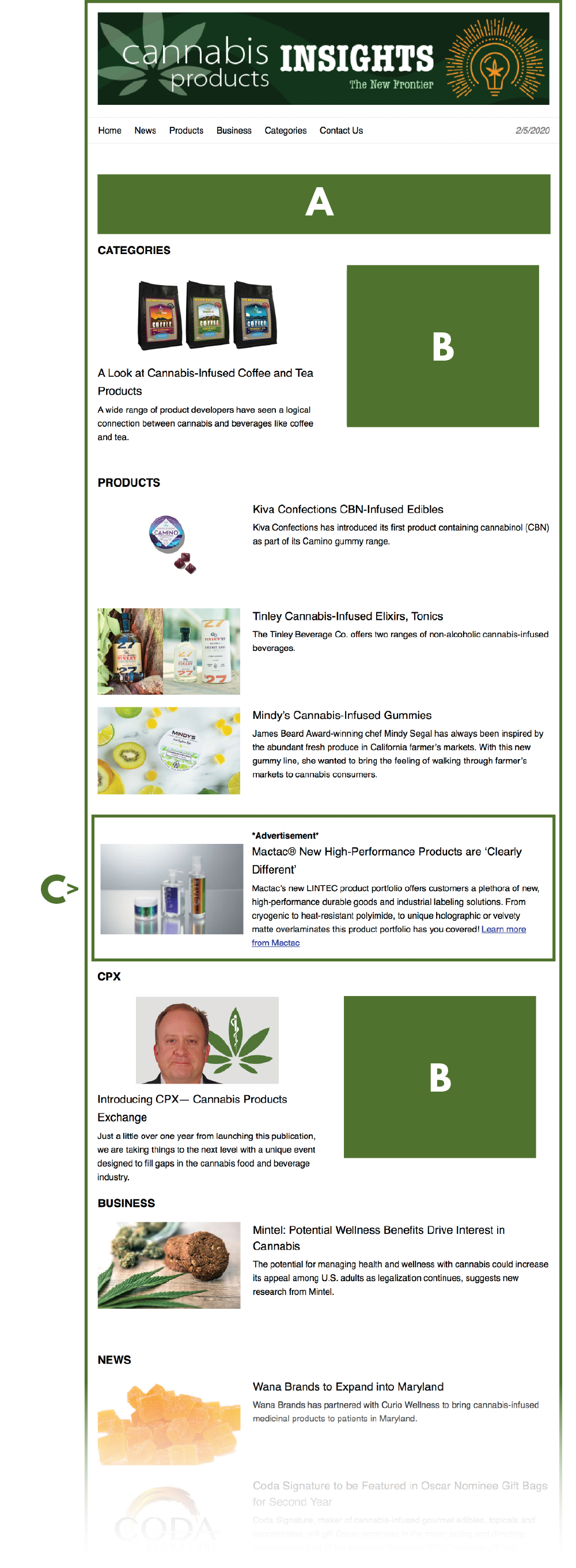 Cannabis Products Insights eNewsletter