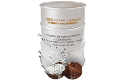 coconut water, coconut concentrate