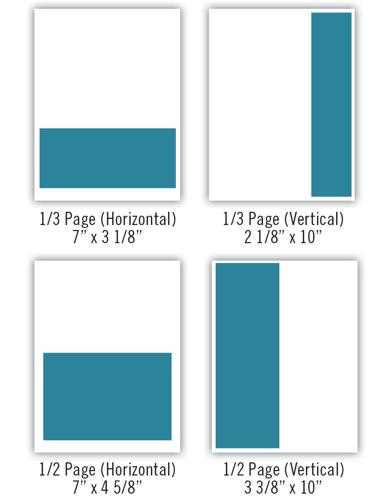 print ad sizes two
