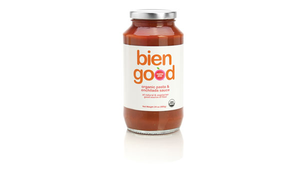 bien good pasta sauce, jar of sauce