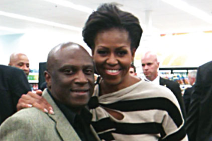 Michelle Obama and Wilbert Jones